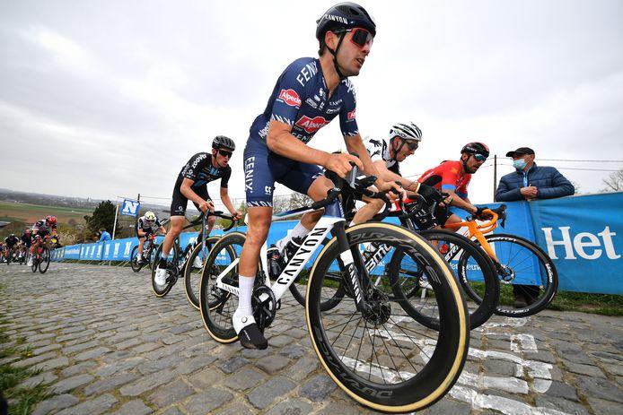 Gianni Vermeersch tijdens de Ronde van Vlaanderen.