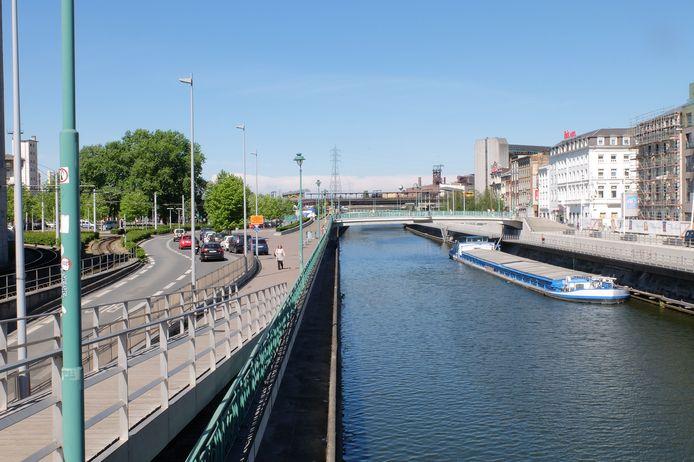 Les quais de la Sambre à Charleroi