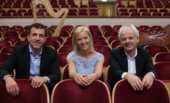 Annelies Boodts met Martin Rosso en Dagmar Feyen.