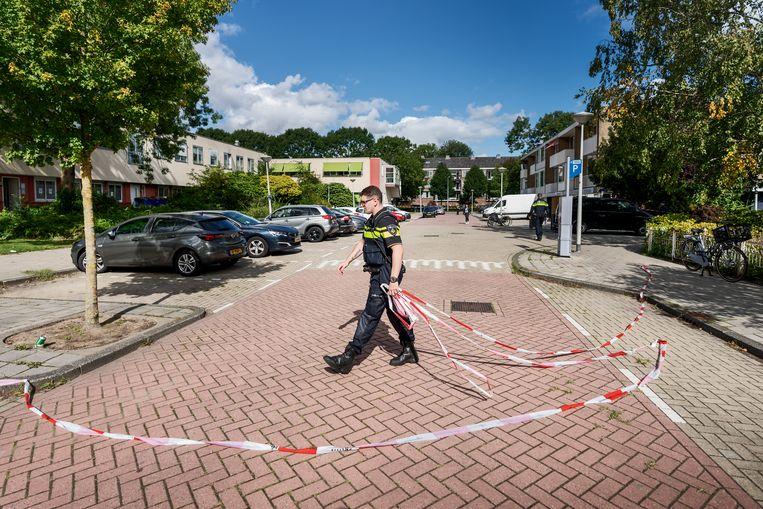 De straat waarin advocaat Derk Wiersum werd geliquideerd. Beeld Hollandse Hoogte / Olivier Middendorp Fotografie
