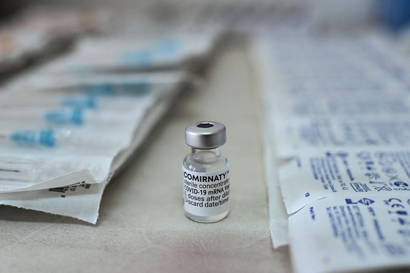 Het Comirnaty-vaccin van Pfizer/BioNTech.
