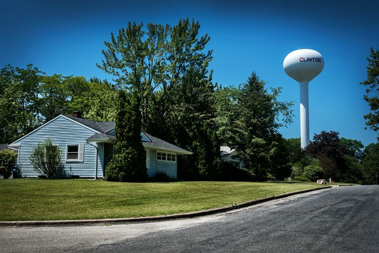 Het stadje Clinton ligt op het conservatieve platteland. Beeld Tim Dirven