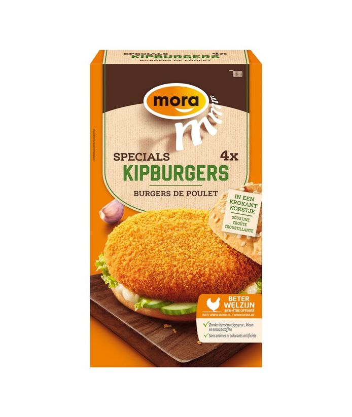 De betreffende kipburgers
