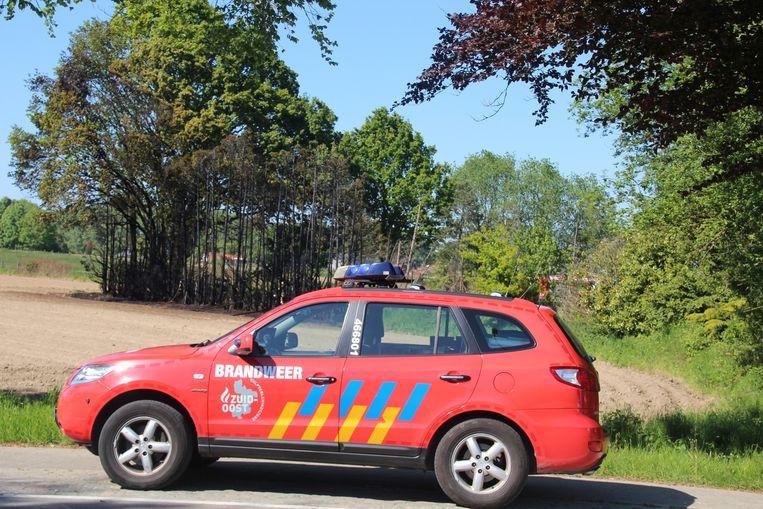 De brandweer kreeg de vlammenzee langs de N9 snel onder controle.