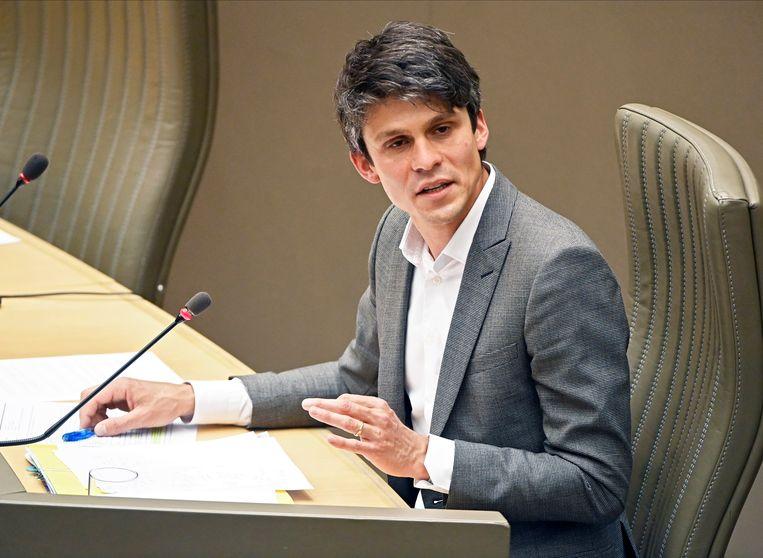 Vlaams minister van Brussel, Jeugd en Media Benjamin Dalle (CD&V). Beeld Photo News