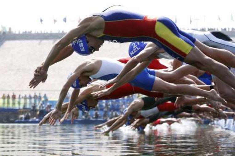Het zwemmen zorgde niet voor echte afscheiding. Beeld UNKNOWN