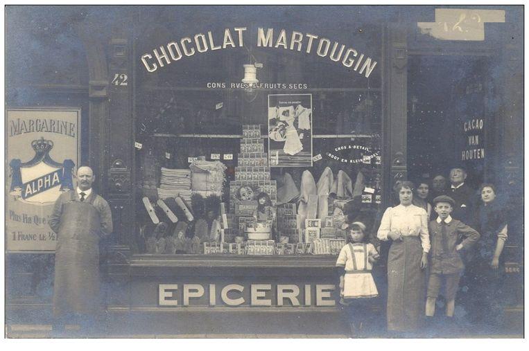 Elke kruidenier verkocht Martougin chocolade