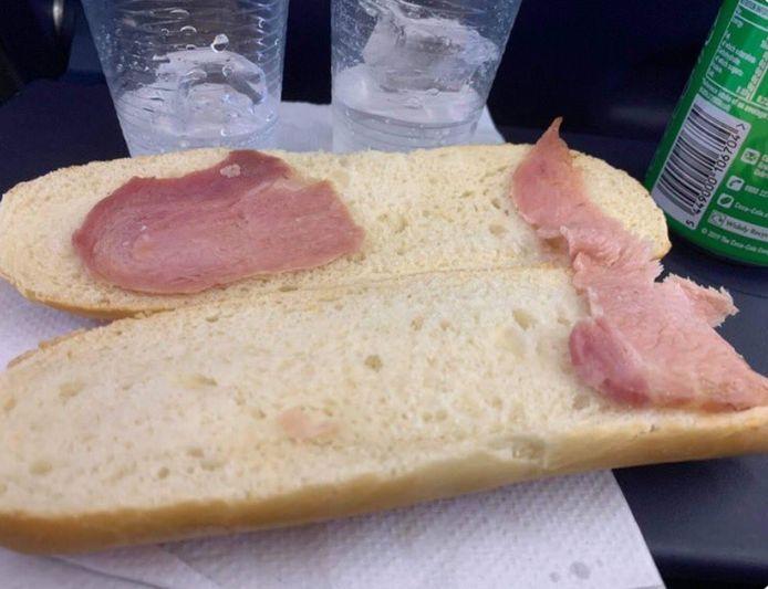 Aimee trok grote ogen toen ze dit broodje voorgeschoteld kreeg.