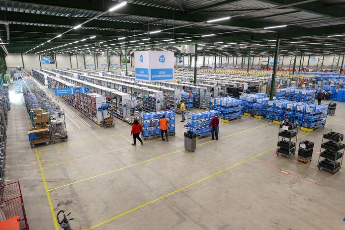 Distributiecentrum van Albert Heijn voor online bestelde boodschappen in Eindhoven.