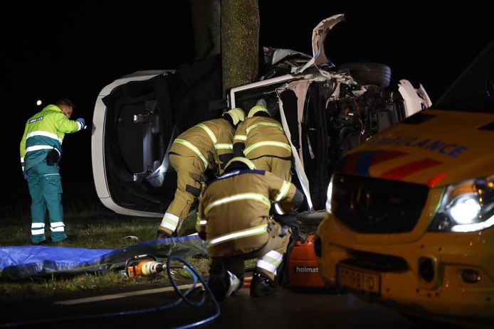 Hulpverlening na het zware ongeval in Schijndel.