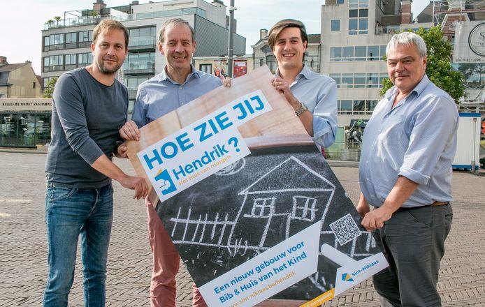 Een participatietraject voor de nieuwe bibliotheek, dat kondigen burgemeester Lieven Dehandschutter en schepenen Bart De Bruyne, Maxime Callaert en Filip Baeyens aan.