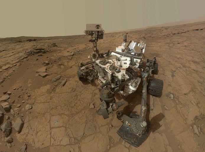 Marsjeep Curiosity in actie.