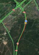 De verkeerssituatie iets voor 07.00 uur vanochtend.
