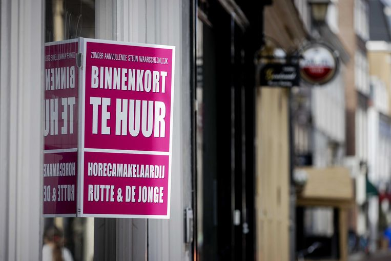 Een gesloten horecagelegenheid in Den Haag. Beeld ANP