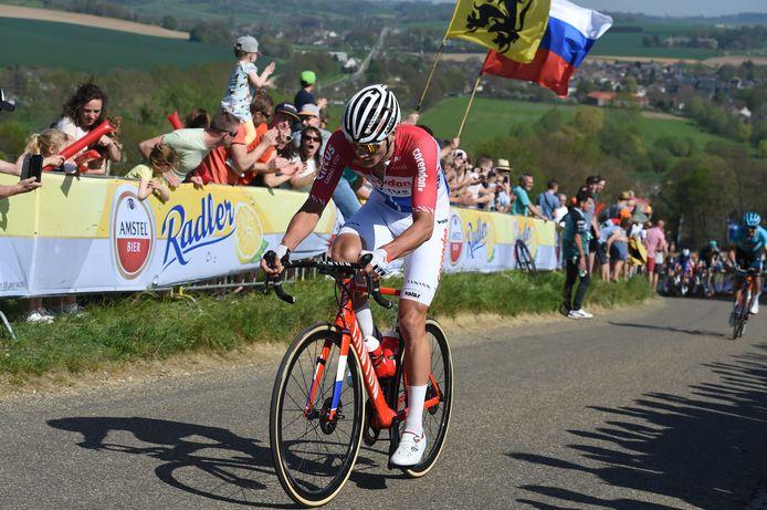 Mathieu van der Poel in actie op de Gulperberg.