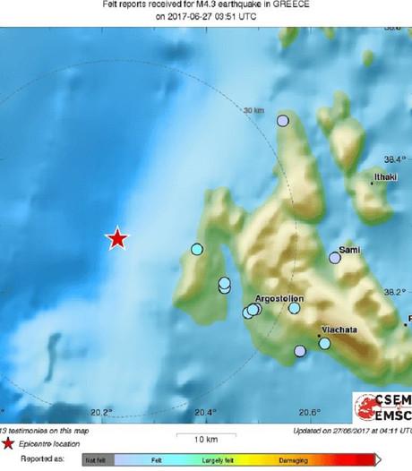 Griekse eiland Kefalonia opgeschrikt door aardbeving