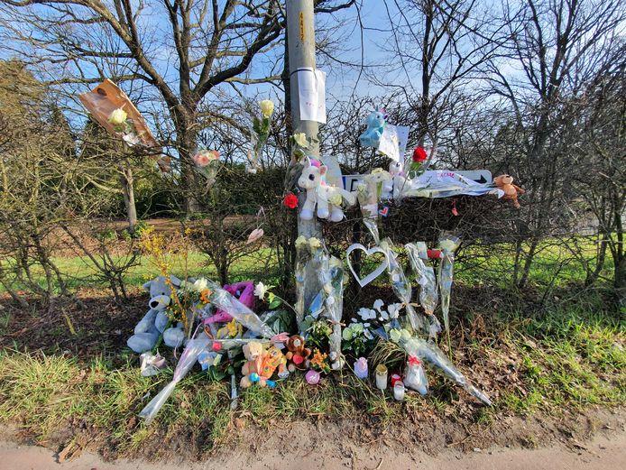 Les lieux de l'accident ont été fleuris et égayés par des anonymes et des proches