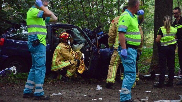 Auto tegen boom in Vlierden