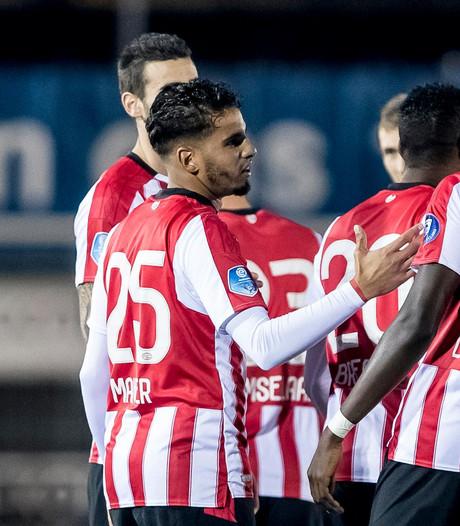 Maher en Room in de basis bij Jong PSV tegen NEC