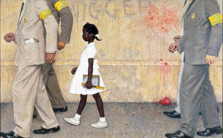 'The Problem We All Live With' (1963) Beeld Norman Rockwell