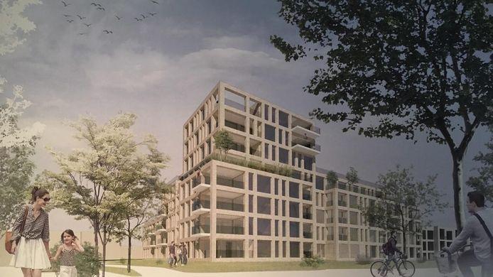 Het nieuwe appartementencomplex aan de Verdilaan in Naaldwijk.