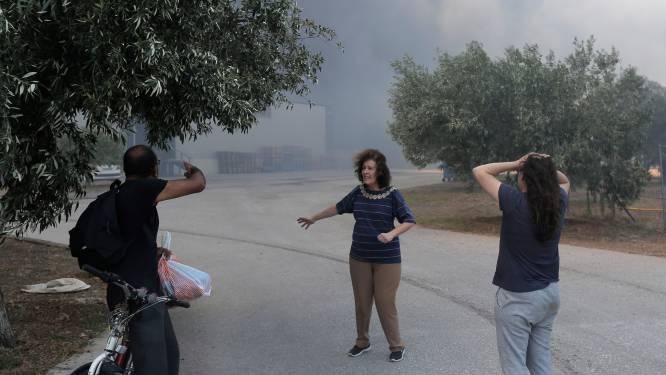 Des centaines de touristes fuient un feu de forêt sur l'île grecque d'Eubée