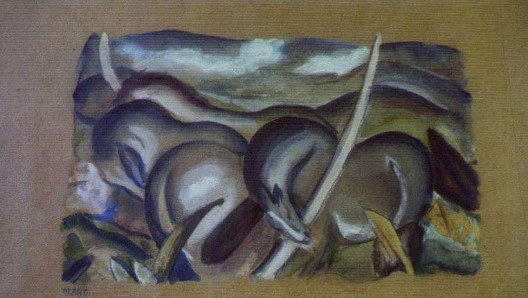 Franz Marc - Paarden in landschap Beeld ANP