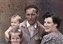 Klaas Kros uit Sliedrecht met zijn gezin.