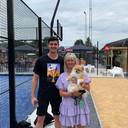 Thibaut Courtois au club de tennis d'Alken
