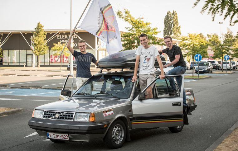 Maxim Martens, Ewoud Nollet, Jonas Simoen van team 'Walk of Lame'.