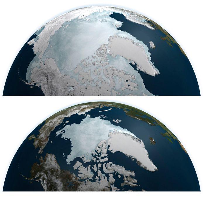 Sinds de start van de metingen in het jaar 1990, nam het poolijs met 95 procent af. Tijdens de wintermaanden komt er tijdelijk weer een kleine ijsoppervlakte bij.