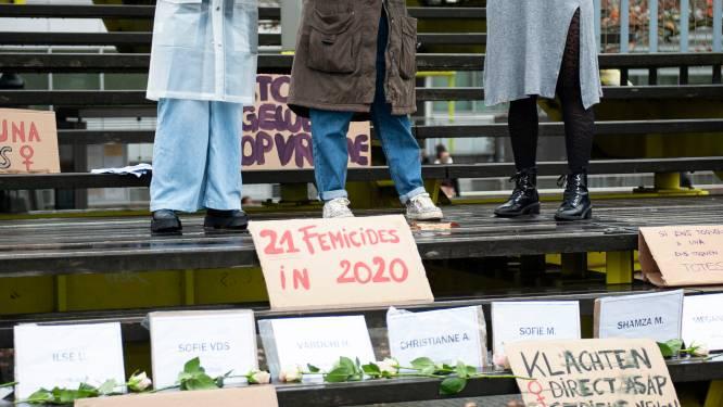 """150 deelnemers op actie tegen vrouwengeweld: """"Aantal meldingen gestegen sinds coronacrisis"""""""