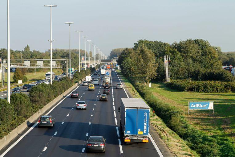 De spitsstrook op de E313 tussen Antwerpen-Oost en Ranst. Beeld BELGA