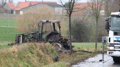 Landbouwer (59) sterft in brandende tractor na frontale botsing