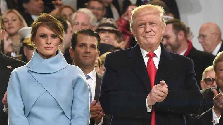 Melania Trump is een enigma. Je vermoedt al snel een roerig gevoelsleven achter de katachtige façade. Beeld AFP
