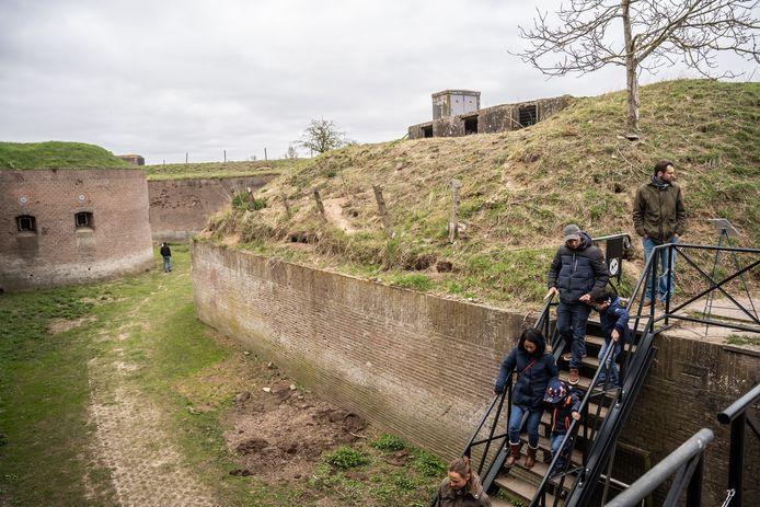 Wandeling in Fort Pannerden, één van de vele onderdelen van de Nieuwe Hollandse Waterlinie.