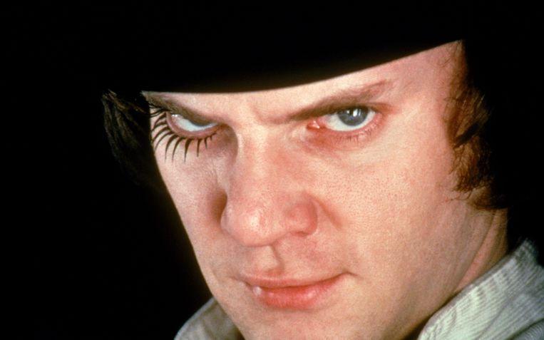 Malcolm McDowell in de verfilming van 'A Clockwork Orange'.