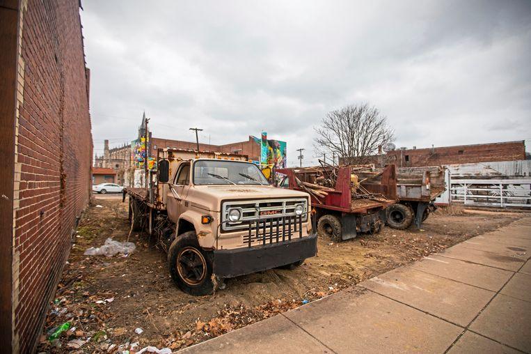 Stadskanker aan North Homewood Avenue in Pittsburgh. De industriestad is lang geplaagd door misdaad, ook na het gouden maffiatijdperk van Russ Shorto en co in Pennsylvania. Beeld AP