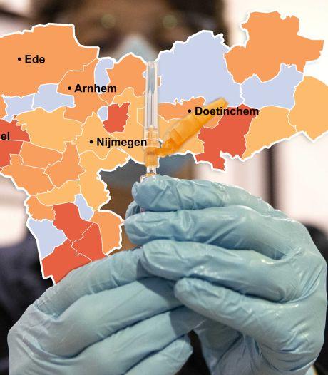 CORONAKAART | Opvallend: grote gemeenten in regio kleuren steeds 'roder', maar dat geldt niet voor Ede
