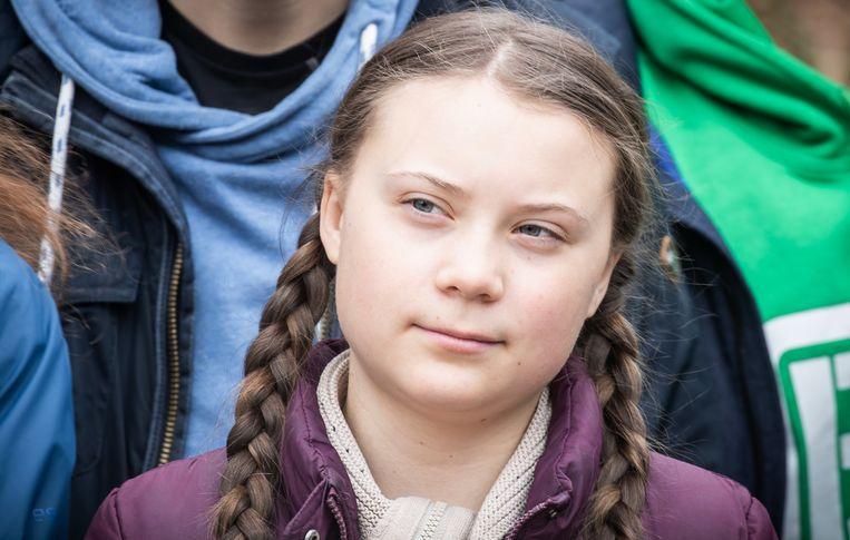 De belangrijkste speeches van de Zweedse klimaatactiviste Greta Thunberg zijn nu gebundeld. Beeld Michael Kappeler/dpa