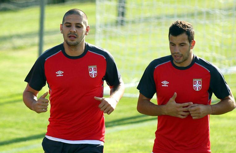 Mitrovic bereidt momenteel met de nationale ploeg van Servië het EK-kwalificatieduel in en tegen Denemarken voor