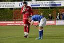 Steven van Dijk als keeper van Jong FC Den Bosch, met medespeler Jorn van Hedel.