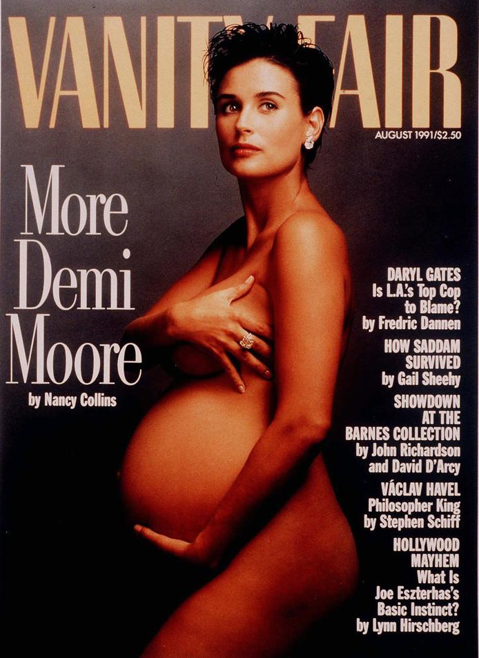 De iconische coverfoto van Demi Moore uit 1991.