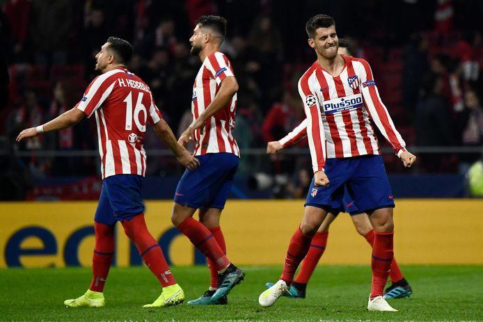 Alvaro Morato viert feest na de 1-0.