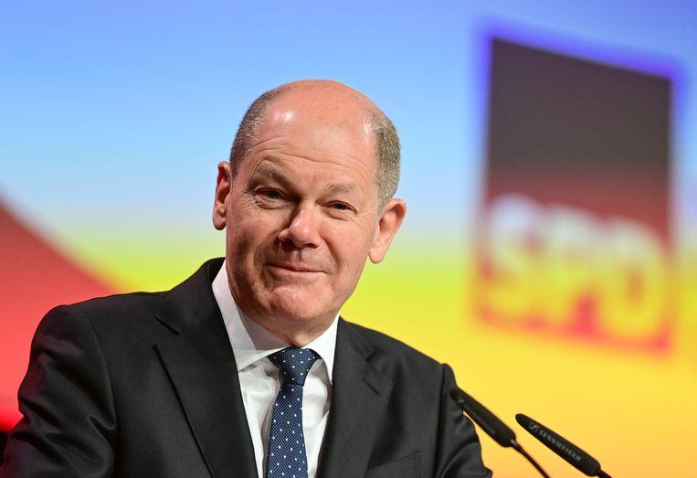 Duits minister van Financiën Olaf Scholz denkt dat de VS onder president Biden ook zullen meewerken. Beeld Soeren Stache/dpa-Zentralbild/dp