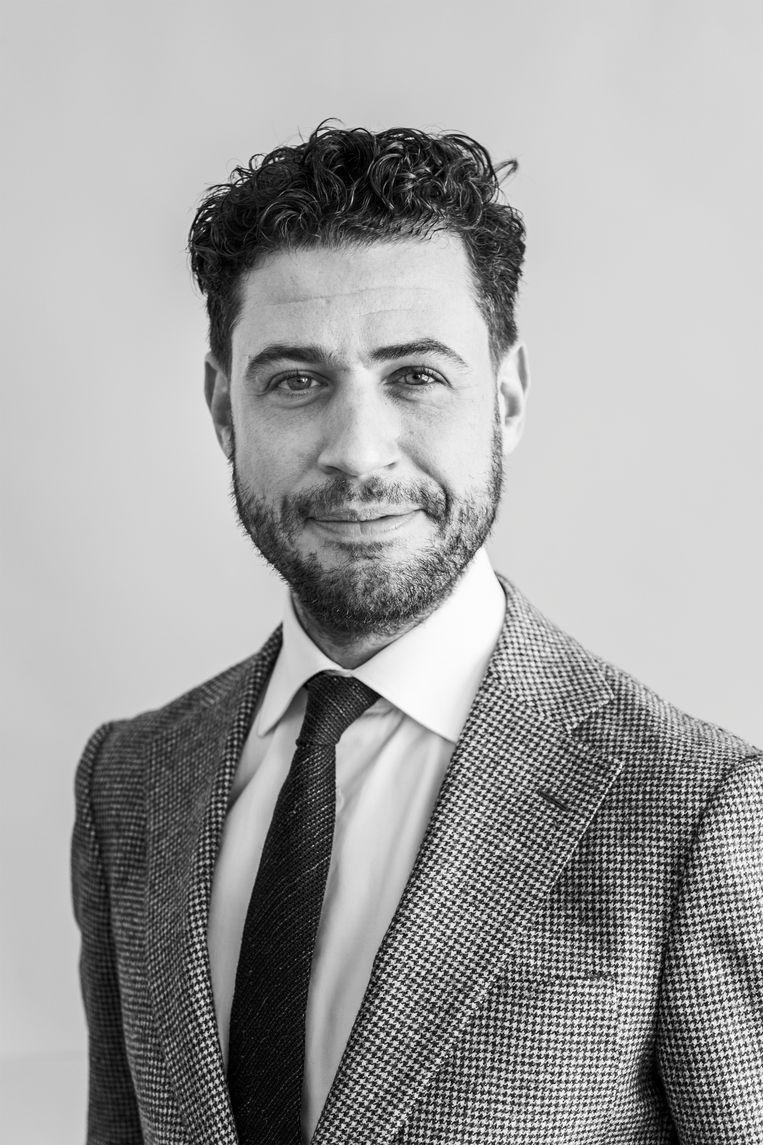 Alexander Hammelburg , politicoloog en gemeenteraadslid in Amsterdam voor D66. Beeld Van Nerum Tammy