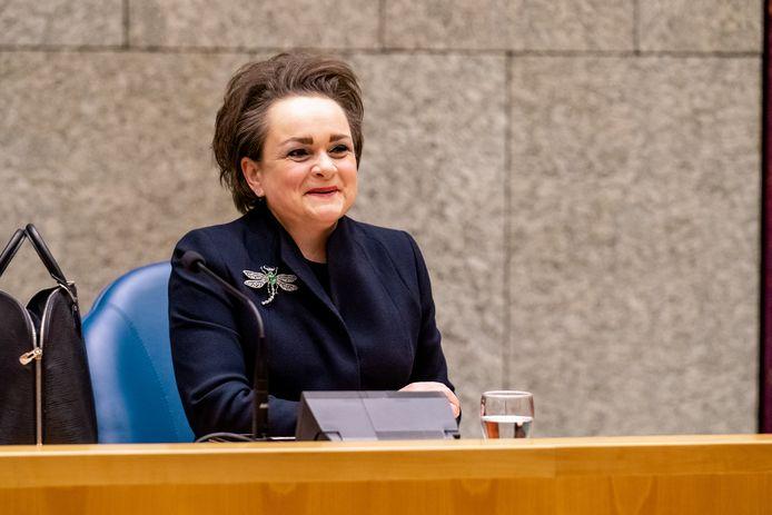 DEN HAAG, 19 JANUARI - Staatssecretaris van Financien Alexandra van Huffelen tijdens het debat over de verklaring van demissionair minister-president Mark Rutte in de Tweede Kamer over het aftreden van het kabinet. JEROEN MEUWSEN / BSR AGENCY