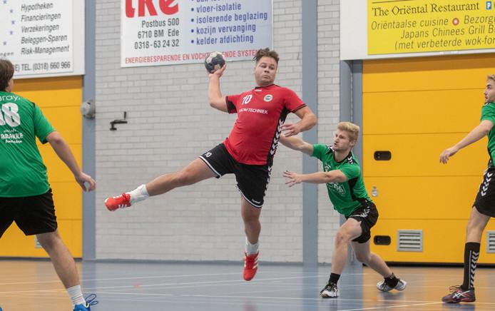 De handballers van Reehorst in actie.