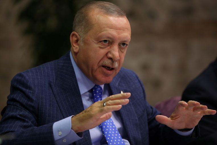 Turks president Recep Tayyip Erdogan. Beeld via REUTERS