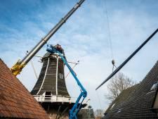 Nog even en molen De Fortuin in Hattem draait en maalt weer als vanouds